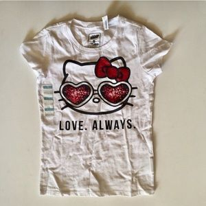 NWT  Hello Kitty Old Navy girls tee Love Always new with tags